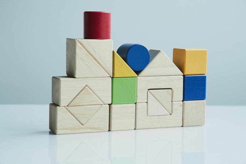 yellow square, blue square, yellow triangle blocks