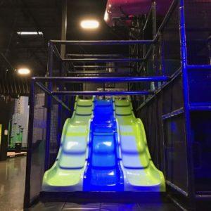 Glow in the dark wave slides