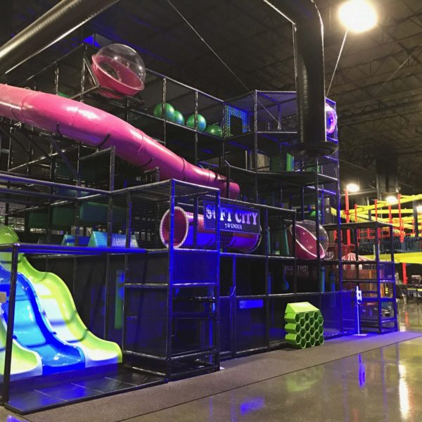 Go Play Systems Custom Design: glow in dark indoor playgrounds