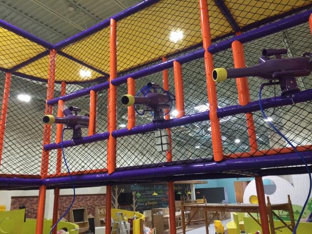 foam balls, foam ball shooters, indoor playgrounds