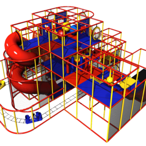 Go Play Systems Custom Design: Indoor playground with kiddie ride