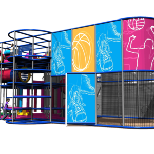 Go Play Systems Custom Design: Indoor Playground with Sports Court