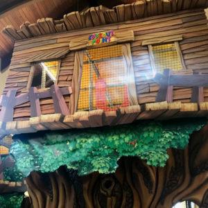Go Play Systems Custom Design: indoor playground looks like real tree house