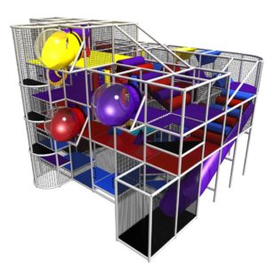 Spheres, Enclosed Slides, Zip Line