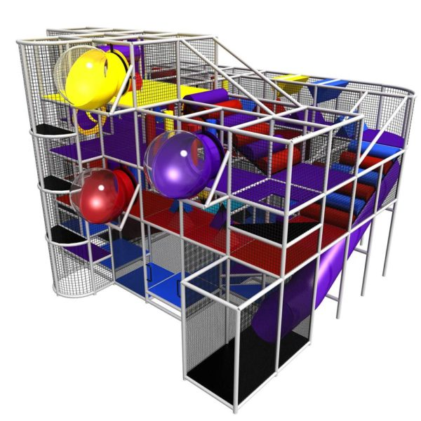 Go Play Systems Custom Design: Spheres, Enclosed Slides, Zip Line