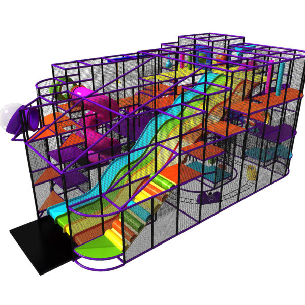 Go Play Systems Custom Design: Huge State Fair Fiberglass Wave Slide