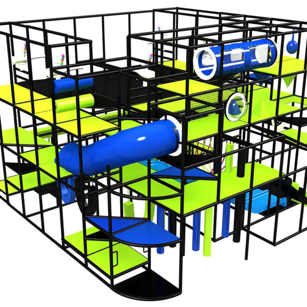 Go Play Systems Custom Design: Neon Fun for All Ages Indoor Playground