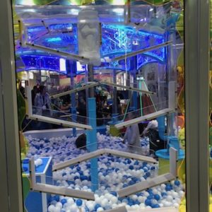 Indoor Playground Components and Attractions: interactive wall with traveling balls and ball pool