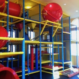 Go Play Systems Custom Design: Great primary colored playground with large slides, crawl tubes, sphere and dozens of activities