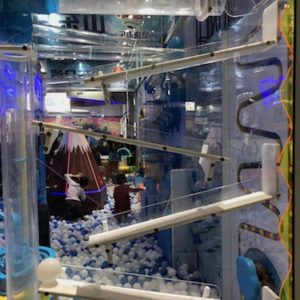 Indoor Playground Components and Attractions: Follow balls through mazes and play games with this innovative toddler activity