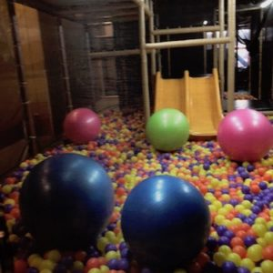 Large interactive ball pit for parents and children