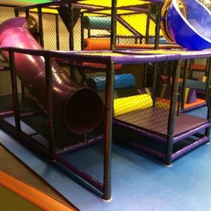 Go Play Systems Custom Design: indoor playground in sanctuary with nine foot ceilings