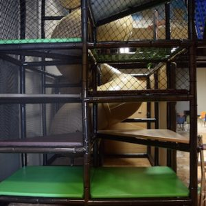 Go Play Systems Custom Design: tan corkscrew slide