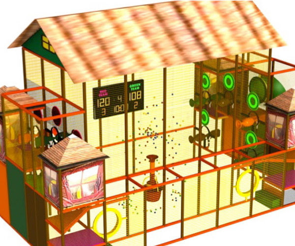 Go Play Systems Custom Design: foam ball shooters, scoring, targets and theming