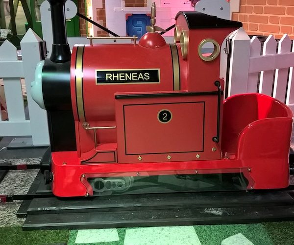 Indoor Playground Components and Attractions: Hand Car Themed as Thomas the Tank Character