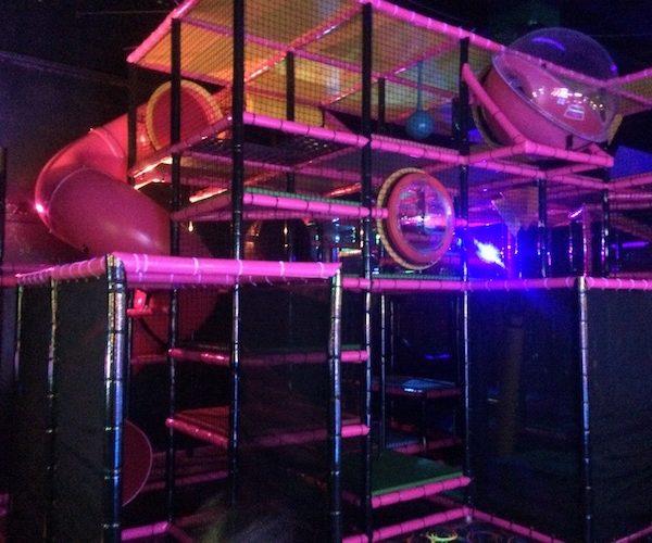 glowing blacklight indoor playground