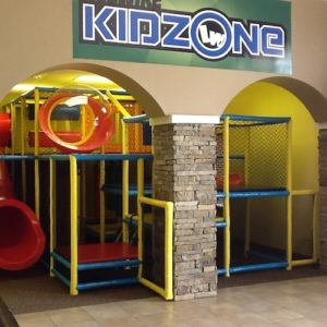 Go Play Systems Custom Design: small 10ft by 16ft x 20ft indoor playground for church youth ministry