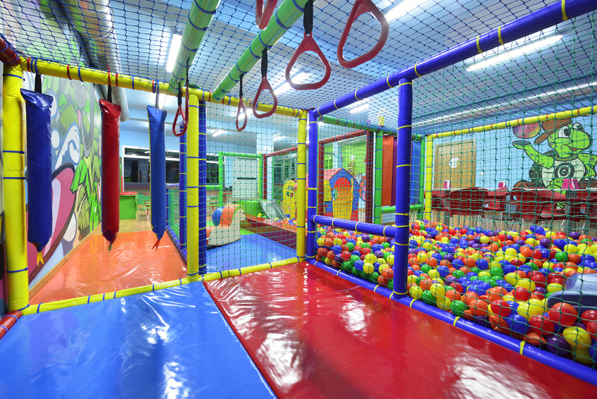 indoor playground with ball pit and wall theming for sale
